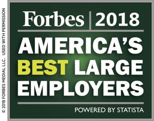 Forbes 2018 America's Best Large Employers.